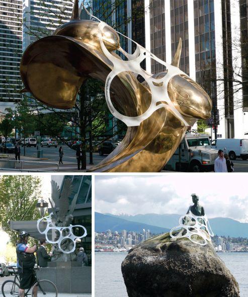 Acción urbana plástico en el océano