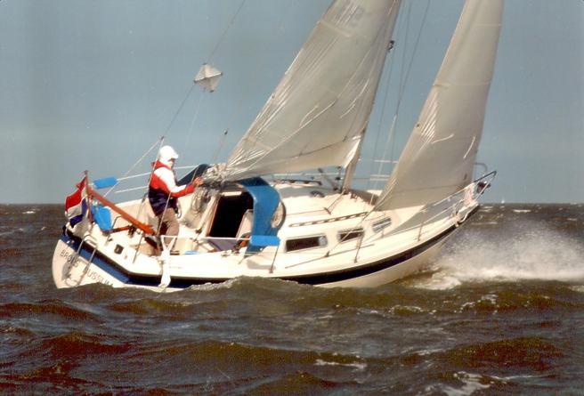 Laura navegando